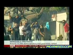 Loud Protests Continue Late Into The Night In Caracas Venezuela