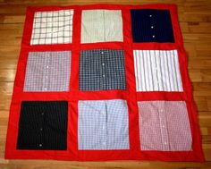 """The Daddy Quilt""--Love this!! I am planning to get one made for my child from my dad's clothing that I have!!"