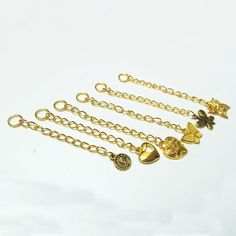 JEWELLERY MAKING SUPPLIES    Bulk x 20 Pieces Extension Chains with Charms     FREE DELIVERY