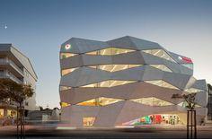 Oporto Vodafone Building in Porto, Portugal;  designed by Barbosa & Guimaraes;  photo by Nelson Garrido