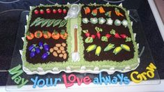 Bridal Shower Garden Cake