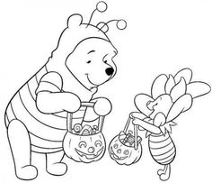 Disney Halloween Pooh Coloring Sheet For Kids Picture 13 550x475