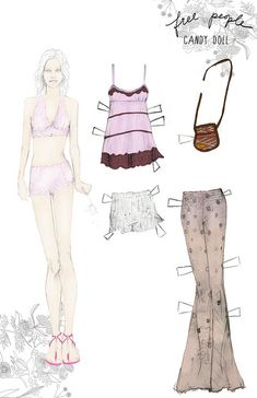 Free People Paper dolls