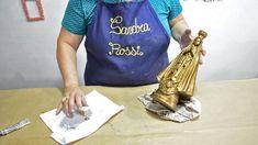 Sandra Rossi, Nossa senhora Aparecida The Creator, Youtube, Plaster Crafts, Plaster Art, Saints, Paintings, Baroque, Needlepoint, Atelier