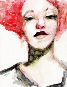 "Female Portrait , ""Miss X"" by Corinne Galla"