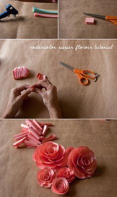 watercolor paper flower tutorial by rachel.grace, via Flickr....might need to start on this NOW...it looks really consuming.....