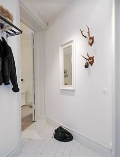 photo: Erik Olsson  antler hook / hat rack  -   create a hat rack as the craft for anna & i???