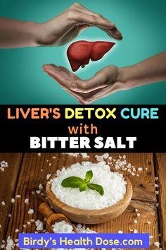 If the liver does not function normally, all body cells will not receive enough nutrients, remove the waste products, toxins, and not communicate as well with the nervous system. The bitter salt shouldn't miss from your house, it is good for the interior, but also for the exterior of our body.  #Detox #Liver'sDetox #Liver'sDetoxRecipe