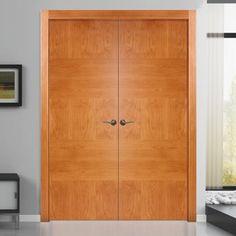 Sanrafael Lisa Flush Double Fire Door - Model K15 Stain Rustic Oak Prefinished. #doublefiredoors #designerfiredoors #designerdoors