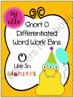 Short O Differentiated Word Work Bins product from Elementary Elle on TeachersNotebook.com