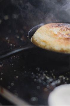 vegan sesame pancake bread • vanessa rees • via design*sponge