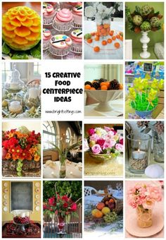 Table Centerpiece Ideas: 15 Ways to Add Food to Your Tablescape – Bright Ideas Food Centerpieces, Centrepiece Ideas, Decoration Table, Crafts For Kids, Diy Crafts, Cupcakes, Deco Floral, Table Scapes, Bright Ideas