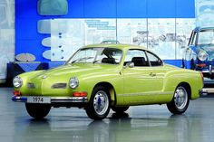 1974 VW Karmann-Ghia Coupé.  My dad had one when I was in high school.  Got the biggest kick driving it.
