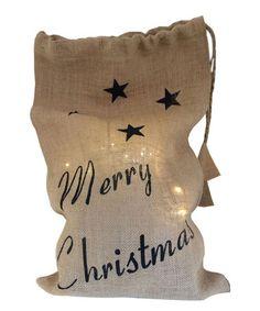 Love this Merry Christmas Burlap Bag on #zulily! #zulilyfinds