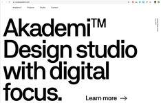 Design studio with digital focus. Web Design Agency, Studio, Learning, Digital, Big, Studying, Studios, Teaching, Onderwijs