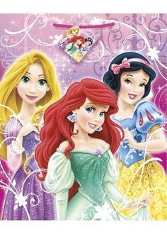 Featurin Rapunzel, Ariel, and Snow White. Look for matching tableware and decorations for the best Disney Princesses themed party! Disney Princess Gifts, New Disney Princesses, Disney Characters, Princess Theme Party, Large Gift Bags, Party Stores, Cool Costumes, Costume Accessories, Rapunzel