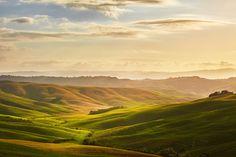 Tuscany hills landscape