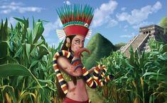 #GDM #JUEGODEMESA #CROWDFUNDING - Ilustración de Chicomecoatl, de Marina Polo para carta de Mitología Azteca del juego de mesa Guerra de Mitos de PAK Francisco Gallego. Un juego de cartas de 2 a 5 jugadores, que está ambientado en un mundo fantástico inspirado en diversas mitologías. board game card game mythology azteca snake serpiente Crowdfunding Verkami http://www.verkami.com/projects/4226-guerra-de-mitos-juego-de-cartas