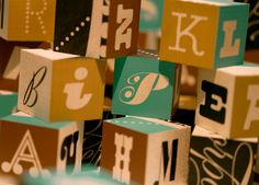 PLINC Blocks - alphabet wooden blocks