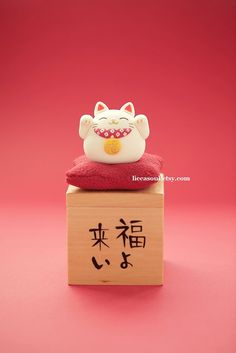 handmade lucky cat handmade clay dolls handmade home by LiccaSoul