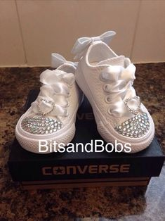 New Customised Crystal Mono Converse Infant c2d96616325e