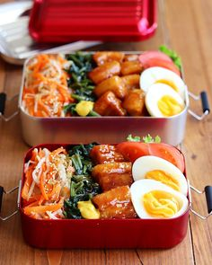Japanese Lunch, Japanese Food, Bento Recipes, Cooking Recipes, Clean Eating, Healthy Eating, Pork Dishes, Aesthetic Food, Food And Drink