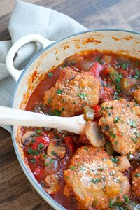 Chicken Cacciatore with Tomato Basil Sauce