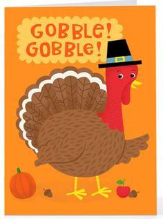 Gobble, Gobble Turkey - Thanksgiving Greeting Card | Hallmark