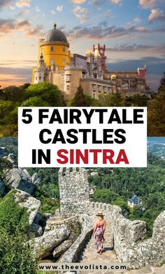 5 Fairytale Castles in Sintra Portugal for the Best Day Trip from Lisbon - - This One Day in Sintra itinerary has everything you need to know to make sure you see everything important in Sintra, one of the best day trips from Lisbon. Portugal Vacation, Places In Portugal, Portugal Travel Guide, Visit Portugal, Europe Travel Guide, Portugal Trip, Travel Guides, Europe Destinations, Day Trips From Lisbon