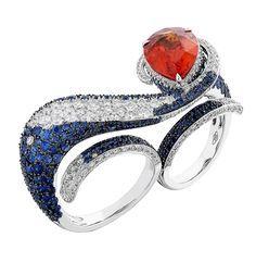 Spessartite Garnet Two-Finger Ring - Miiori NY - Product Search - JCK Marketplace