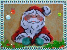 Christmas Santa hama perler beads by cathy077