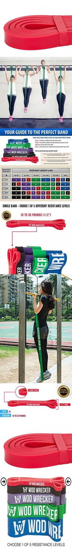 Assisted Pull Up Resistance Exercise Band For Crossfit Equipment, Single Red ...