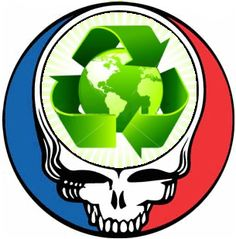 Grateful Dead Recycle Steal Your Face for Earth Day by Zooomabooma, via Flickr