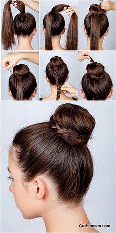 Twisted Round Bun Hairstyle Braided Hairstyles Natural Braided Hairstyles Braided Hairstyles Tutorials