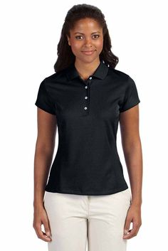 55dade7e875 Adidas Womens ClimaLite Polyester Solid Short Sleeve Polo Shirt A171 Polo  Fashion, Adidas Golf,