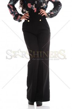 PrettyGirl Look Black Trousers Black Trousers, Product Label, Office Fashion, Dusty Pink, Clothing Items, Zip, Fall, Colors, Casual