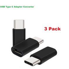3 Pack USB Type C Male to Micro USB Female Data Adapter Converter For Nexus 6P #UnbrandedGeneric