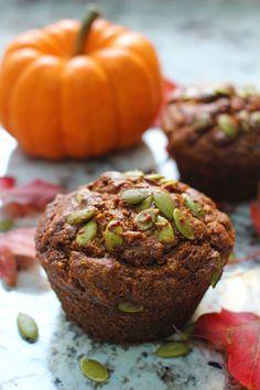 Low FODMAP Pumpkin Spice Muffins - Lauren Renlund MPH RD Pumpkin Spice Muffins, Pumpkin Puree, Banana Carrot Muffins, Banana Oats, Nutrition Meal Plan, Cottage Cheese Nutrition, Low Fodmap, Fodmap Diet, Fodmap Recipes