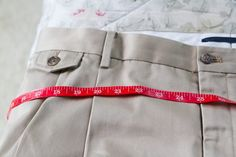 How to Alter Men's Pants to Fit Women
