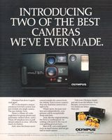 Olympus Infinity Twin 1989 Ad Picture