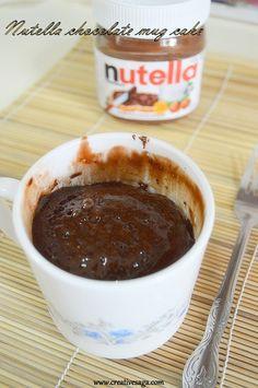 microwave nutella mug cake recipe