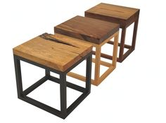 Reclaimed Solid Wood Accent Tables