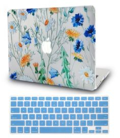 KEC Floral Macbook Case for Macbook Air & Pro 15 inch. Stylish and Protective Macbook Cover Hard Shell in Flower Pattern. Macbook Keyboard Cover, Laptop Case Macbook, Macbook Desktop, Macbook Wallpaper, Wallpaper Desktop, Mac Book Cover, Best Gaming Laptop, Laptop Computers, Best Macbook