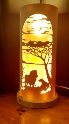 LIONS AND ACACIAS FROM TIQUE LIGHTS Pvc Pipe Crafts, Pvc Pipe Projects, Small Projects Ideas, Animal Projects, Pipe Lighting, Cool Lighting, Metal Art, Wood Art, Bamboo Lamp