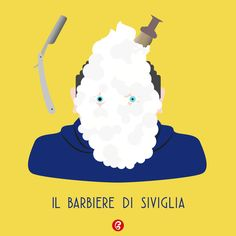 """Il Barbiere di Siviglia – grafica  20 febbraio 1816 – Prima esecuzione del """"Barbiere di Siviglia o sia L'inutil precauzione"""" di Giocchino Rossini. Every Day – GELATINA DESIGN"""