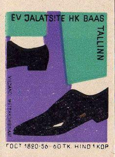 soviet estonian matchbox label
