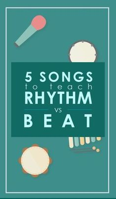 Teaching Rhythm vs Beat? This song collection is AWESOME for teaching, and kids love it! Click through for the free music!