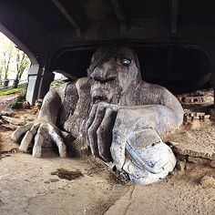 Fremont Troll....yes we have real trolls under our bridges!