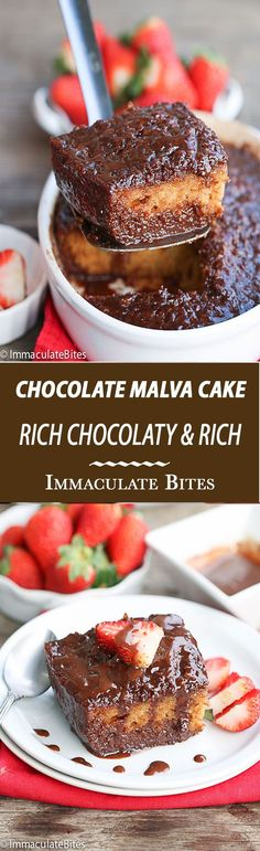 Malva Pudding (Chocolate) - Immaculate Bites - Kathie Lynch Sinibaldi - Malva Pudding (Chocolate) - Immaculate Bites Malva Pudding Chocolate -A Decadent traditional South African Dessert that you just have to try! Rich, Moist, Chocolaty and Oh so easy! Brownie Desserts, Oreo Dessert, Mini Desserts, South African Desserts, South African Recipes, Indian Desserts, South African Food, Baking Recipes, Cake Recipes