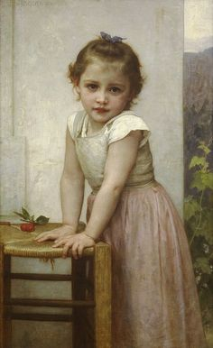 Yvonne - William-Adolphe Bouguereau Realism - Portrait - oil - Completion Date: 1896 William Adolphe Bouguereau, Paintings I Love, Beautiful Paintings, French Paintings, Oil Paintings, Vintage Illustration, Munier, Renoir, Oeuvre D'art